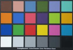 Casio Exilim EX-Z75 colourchart
