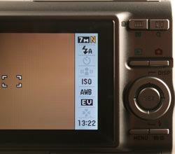 Casio Exilim EX-Z75 rear controls