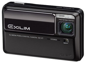 Casio Exilim EX-V7 - slimline compact with 7x zoom launched