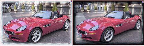 Change your photo's border using Photo Impact