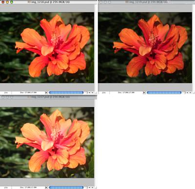 Combining 16-bit auto exposure bracketed images