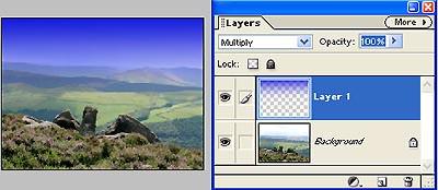 Create a digital graduated filter effect