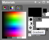 gradient filter effect using PSP