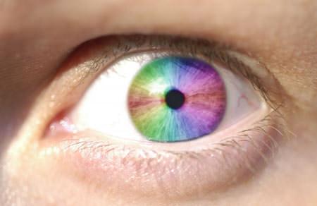 Creating a rainbow eye using Gimp