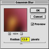 hand colouring gaussian blur