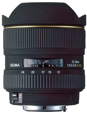 Details of Sigma groundbreaking 12-24mm f/4.5-5.6 EX DG zoom lens