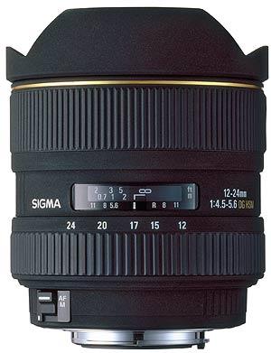 Details of Sigma groundbreaking 12-24mm f/4.5-5.6 EX DG zoom lens