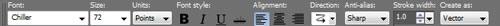 Corel PSP text effects