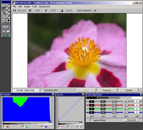 Fotostation 4.5 edit mode