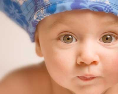 Baby in a blue hat