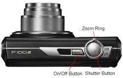 Fujifilm Finepix F100fd top