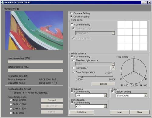 Fujifilm S2 Pro RAW File converter