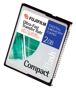Fuji 2Gb CompactFlash card