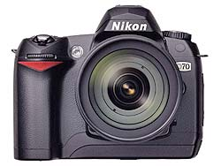 Full details of Nikon's D70 Digital SLR