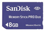 Sandisk 8Gb Memory Stick pro
