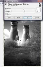 infrared to mono conversion using Gimp