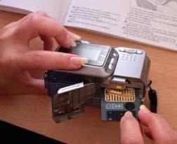 loading memory card