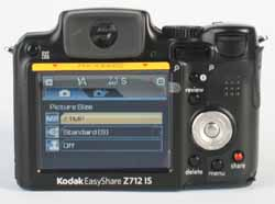 Kodak Z712 rear view