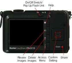 Kodak Easyshare Z8612 IS Rear