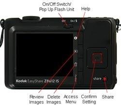 Kodak Easyshare Z8612 IS Rear