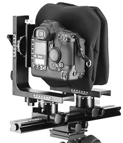 Large format style bellows for Canon or Nikon digital SLRs