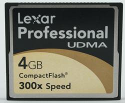 Lexar Professional UDMA 4Gb compactflash 300x