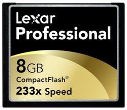 Lexar Professional 233x CF Memory Card 8Gb