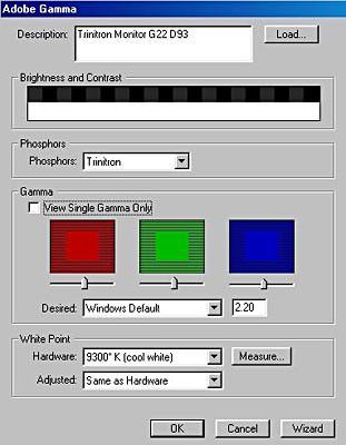 Monitor calibration - equipment instructions