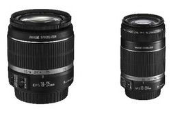 Canon EF-S 18-55mm and 55-250mm