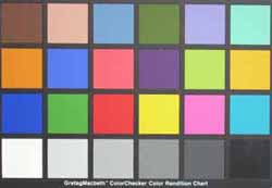 Nikon Coolpix L11 colourchart
