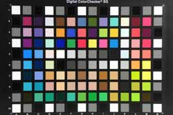 Nikon Coolpix P90 colour chart