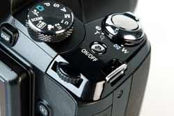 Nikon Coolpix P90 top plate