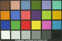 Nikon Coolpix S51c colour chart