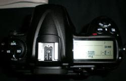 Nikon D300 top view