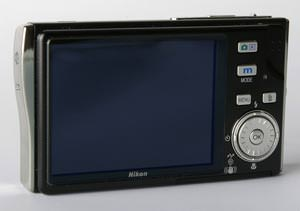 Rear view of Nikon S7c digital camera