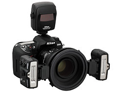 Nikon post advice on how many SB-R200 Speedlights can be attached safely to a range of lenses.