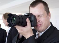 Matt using the Nikon D90