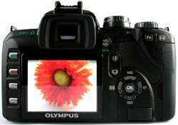 Olympus E-510 rear view
