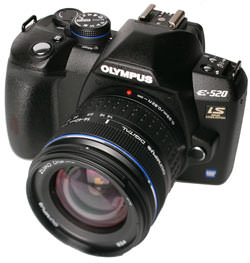Olympus E-520 front