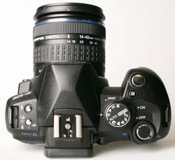 Olympus E-520 top plate