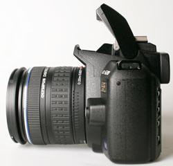 Olympus E-520 side