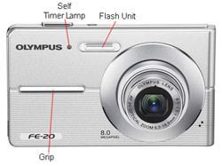 Olympus FE-20 Front