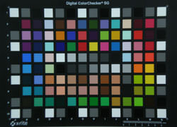 Olympus FE-280 Colour Chart Test