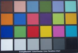 Olympus Mju 790 SW colourchart