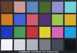 Olympus SP-560UZ colour chart
