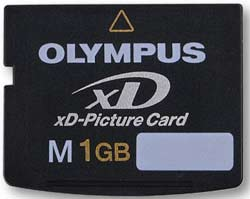 Olympus 1Gb xD memory card