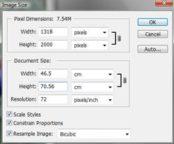 Image sizing in Photoshop CS2