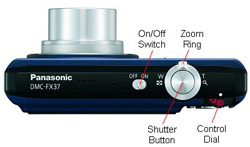 Panasonic DMC FX37 Top