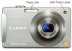 Panasonic DMC FX500 front view