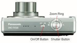 Panasonic DMC FX500 top view